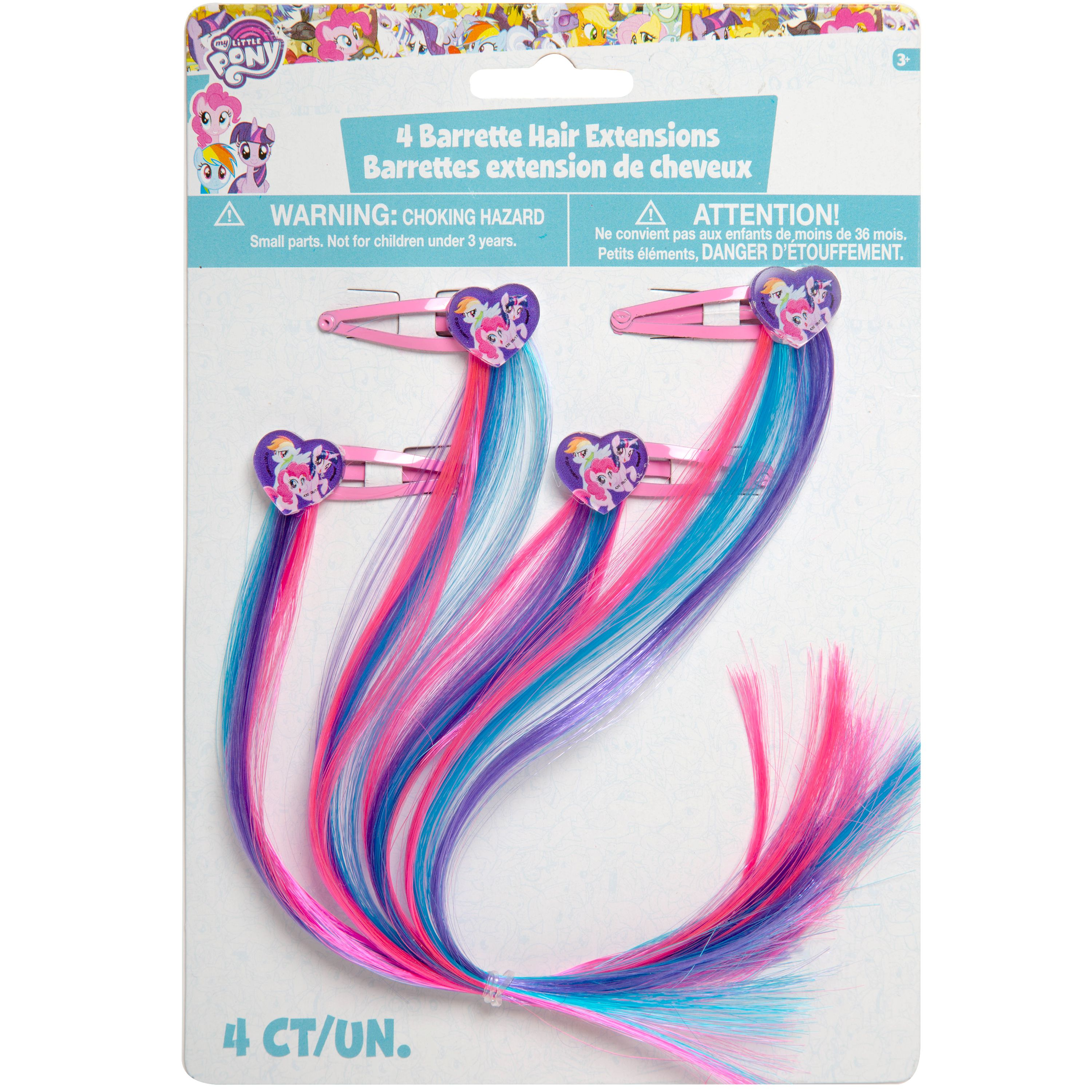 My Little Pony Rainbow Hair Clip Party Favors, 4ct