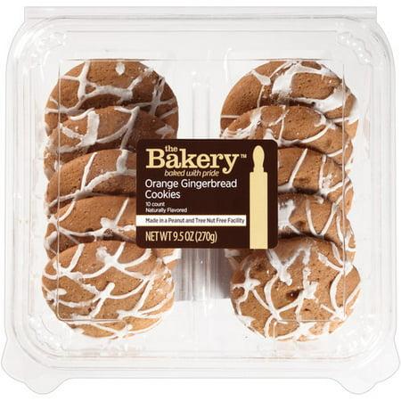 The Bakery Orange Gingerbread Cookies 10 Ct 9 5 Oz Walmart Com