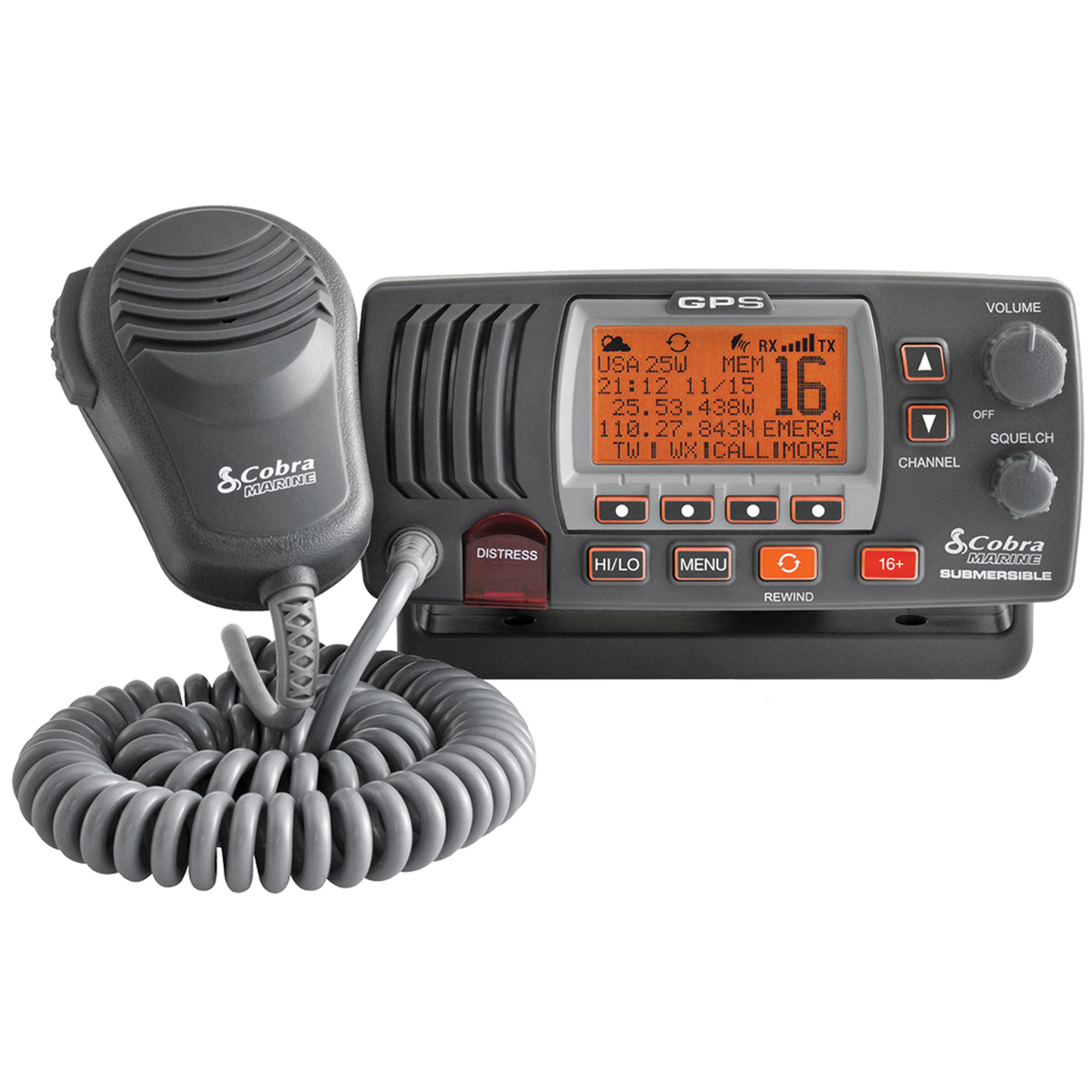 Cobra Electronics Corporation MR F77B GPS Radio Vhf Marine Mr-F77B