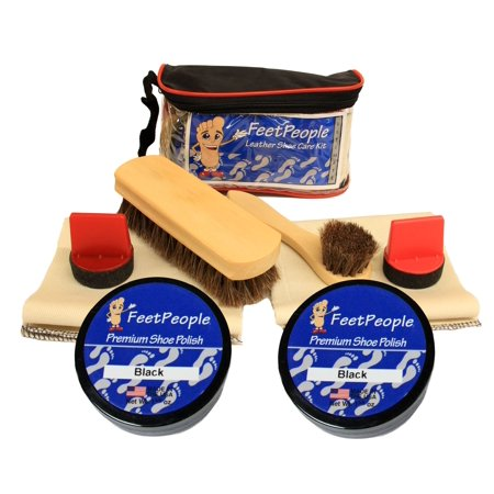 FeetPeople Ultimate Leather Care Kit with Travel Bag, (Brown Bag Shortbread Mold)