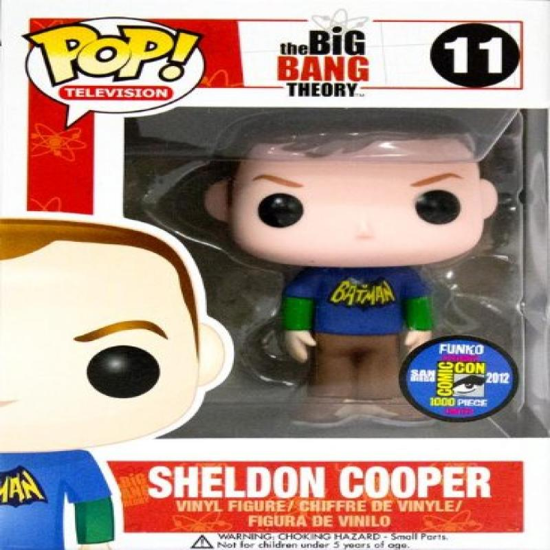 Funko POP! 2012 SDCC Big Bang Theory Sheldon Cooper Batman T-shirt Exclusive