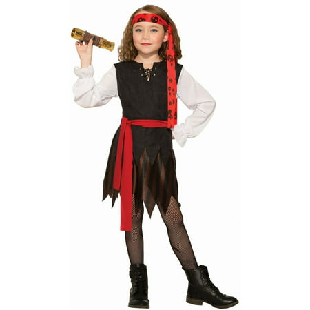 Halloween Renegade - Pirate Girl Child Costume - Diy Little Girl Pirate Costume