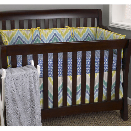 Cotton Tale Zebra Romp 4 Piece Crib Bedding Set