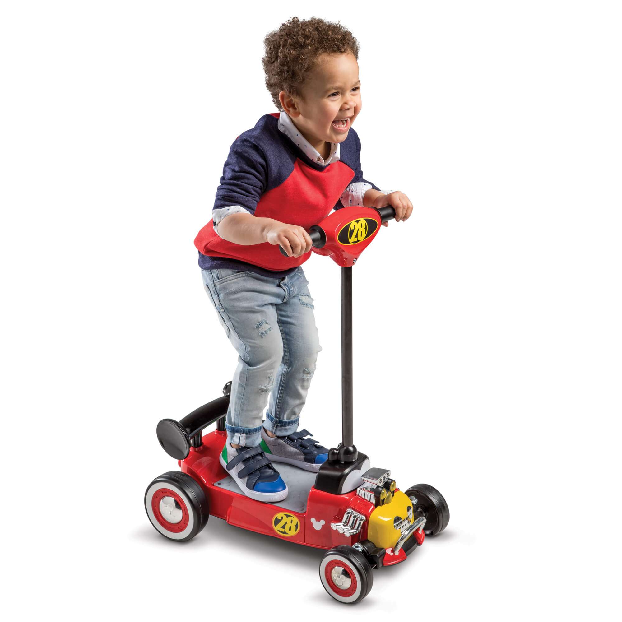 Disney Mickey Boys 6V Battery-Powered Ride-On Scooter by Huffy by Huffy