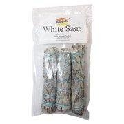 Govinda - Pack of 3 Mini White Sage Smudge Stick, 4 Inch Long