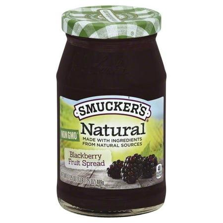 (3 Pack) Smucker'sNatural Blackberry Fruit Spread, 17.25-Ounce