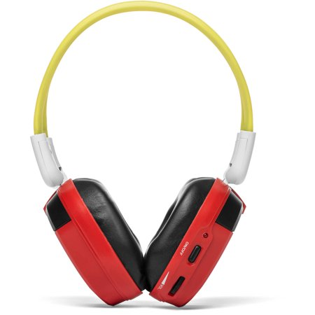 Bravo View Ih 06A Kid Friendly Automotive Ir Wireless Headphones  Red