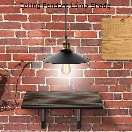 WALFRONT Vintage Industrial Ceiling Pendant Lamp Shade Metal Lampshade Hanging Lighting Fixtures Decor, Industrial Lamp Shade,Ceiling Pendant Lamp Shade