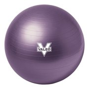 Valeo Anti-Burst 55cm Exercise Body Ball Includes High Volume 2-Way Action Air Pump And Includes Fitness Guide for Fitness, Stability, and Balance