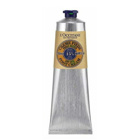 ($29 Value) L'Occitane Shea Butter Foot Cream, Dry Skin, 5.2 Oz Dry Skin Therapy Foot Cream
