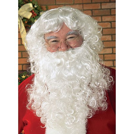 Santa Beard Wig Set Adult Christmas Accessory (Zz Top Beard Halloween)