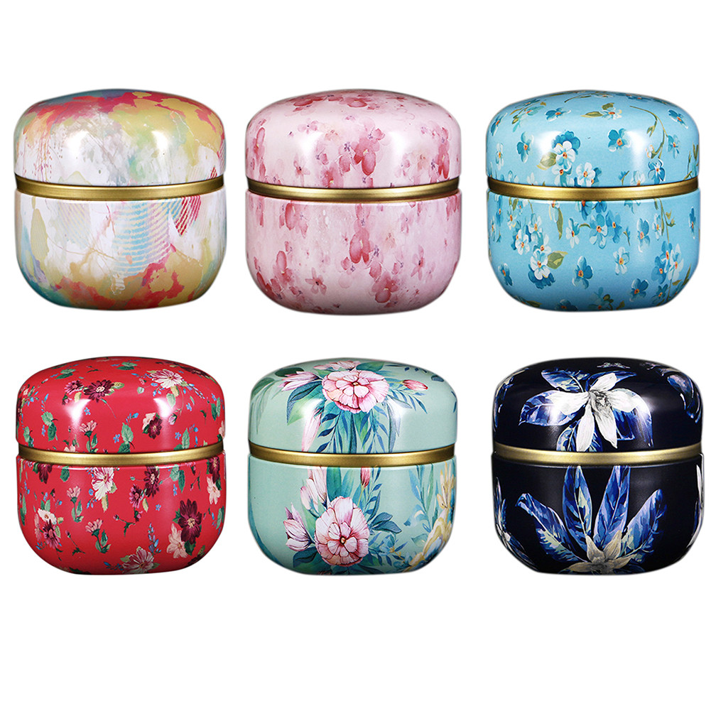 Details about  /5PCS Sealed Tea Caddy Universal Small Round Can Mini Portable Empty Tea Can Crea