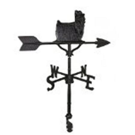 Montague Metal Products WV-261-SB 200 Series 32 In. Black Yorkshire Terrier Weathervane - image 1 de 1