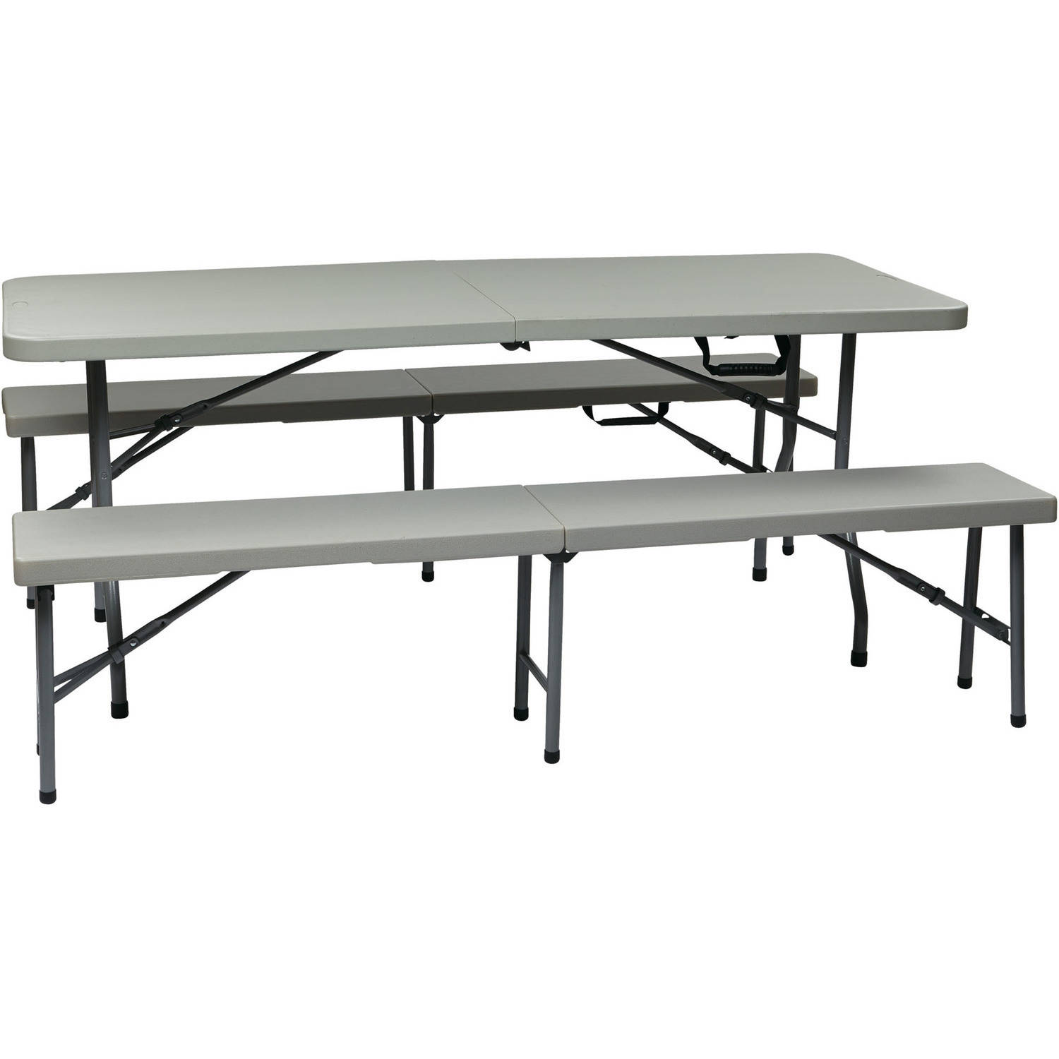 3-Piece Folding Table and Bench Set by Office Star Products