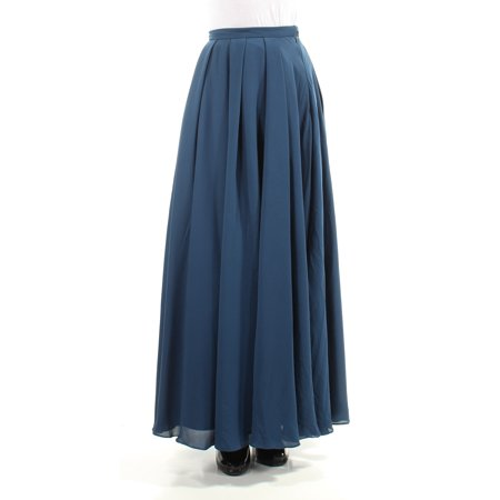 FAME AND PARTNERS Womens Navy Maxi Paneled Skirt  Size: 2