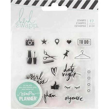 Heidi Swapp Memory Planner Clear Stamps-Fresh Start, Everyday