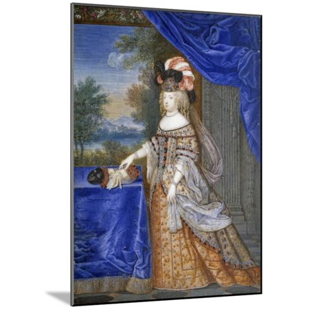 Portrait of Maria Theresa in a Polish Costume by Joseph Werner Wood Mounted Print Wall Art