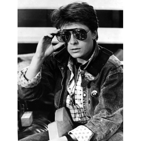 Michael J Fox in Jacket With Sunglasses Print Wall Art By Movie Star News
