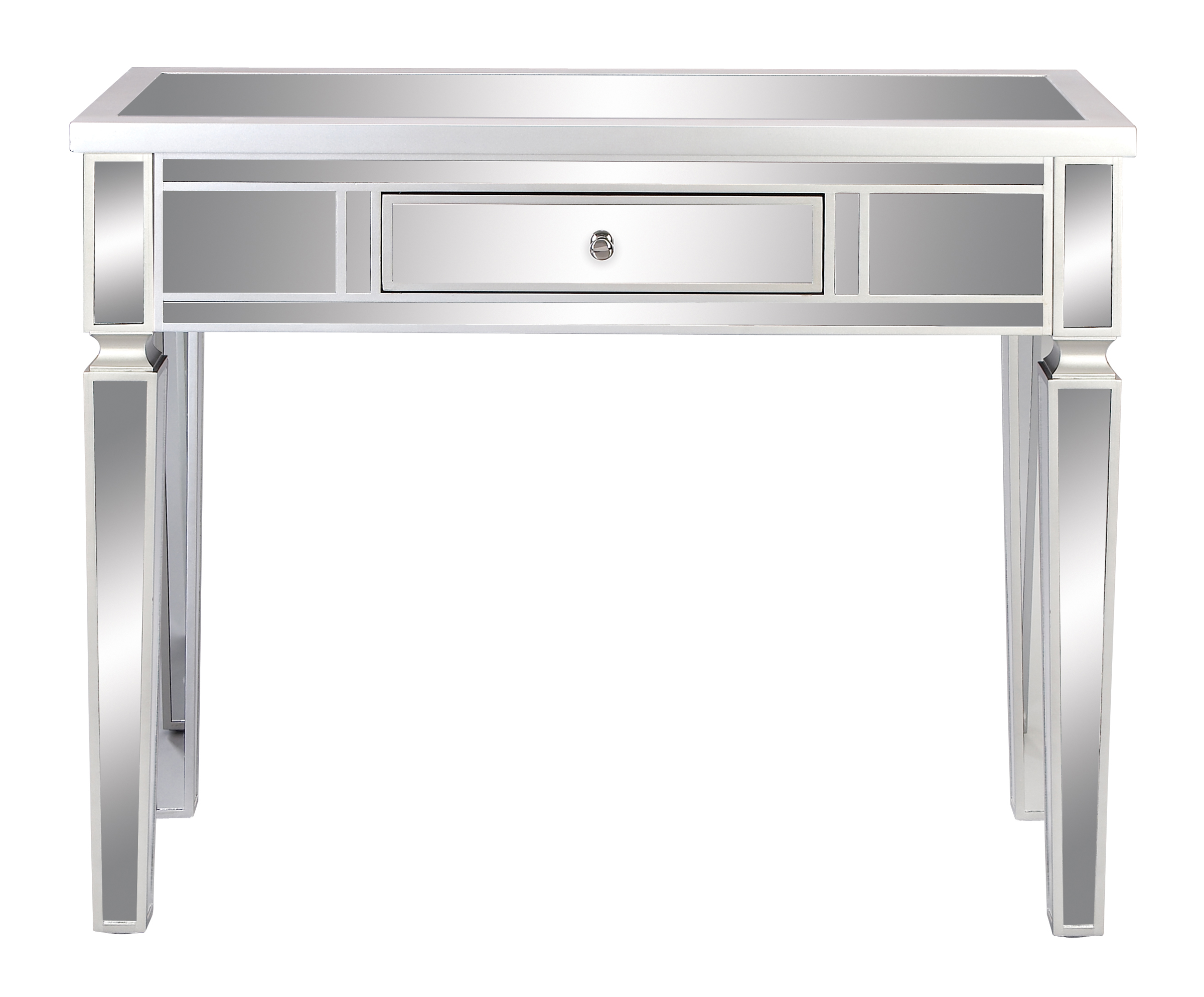 36 x 42 mirror decmode glam 36 42 inch mirror paneled wooden console table with drawer white
