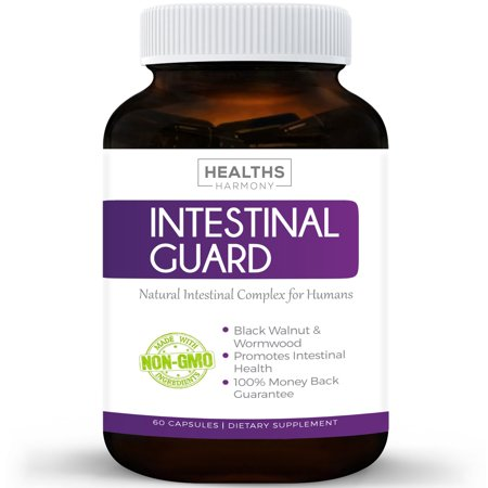 Herbal Parasite Cleanse - Healths Harmony Intestinal Guard & Parasite Cleanse (NON-GMO) Worm & Intestinal Cleanse for Humans - Wormwood & Black Walnut - 60 Capsules