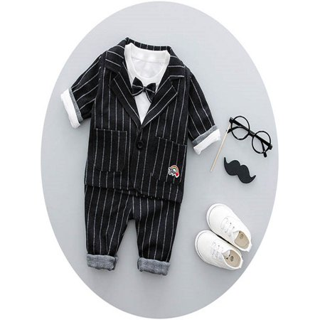 303ab0c12e24e Fymall - Baby Toddler Boys 3pcs Blazer Suits Spring Autumn Party Wedding -  Walmart.com