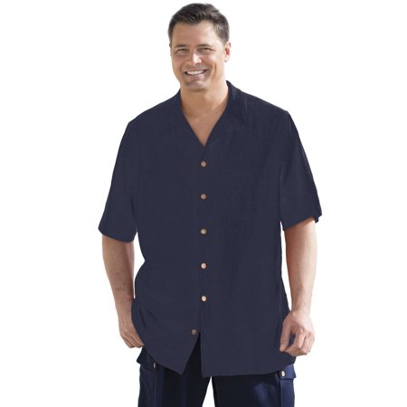 - Kingsize Men's Big & Tall Gauze Cotton Camp Shirt