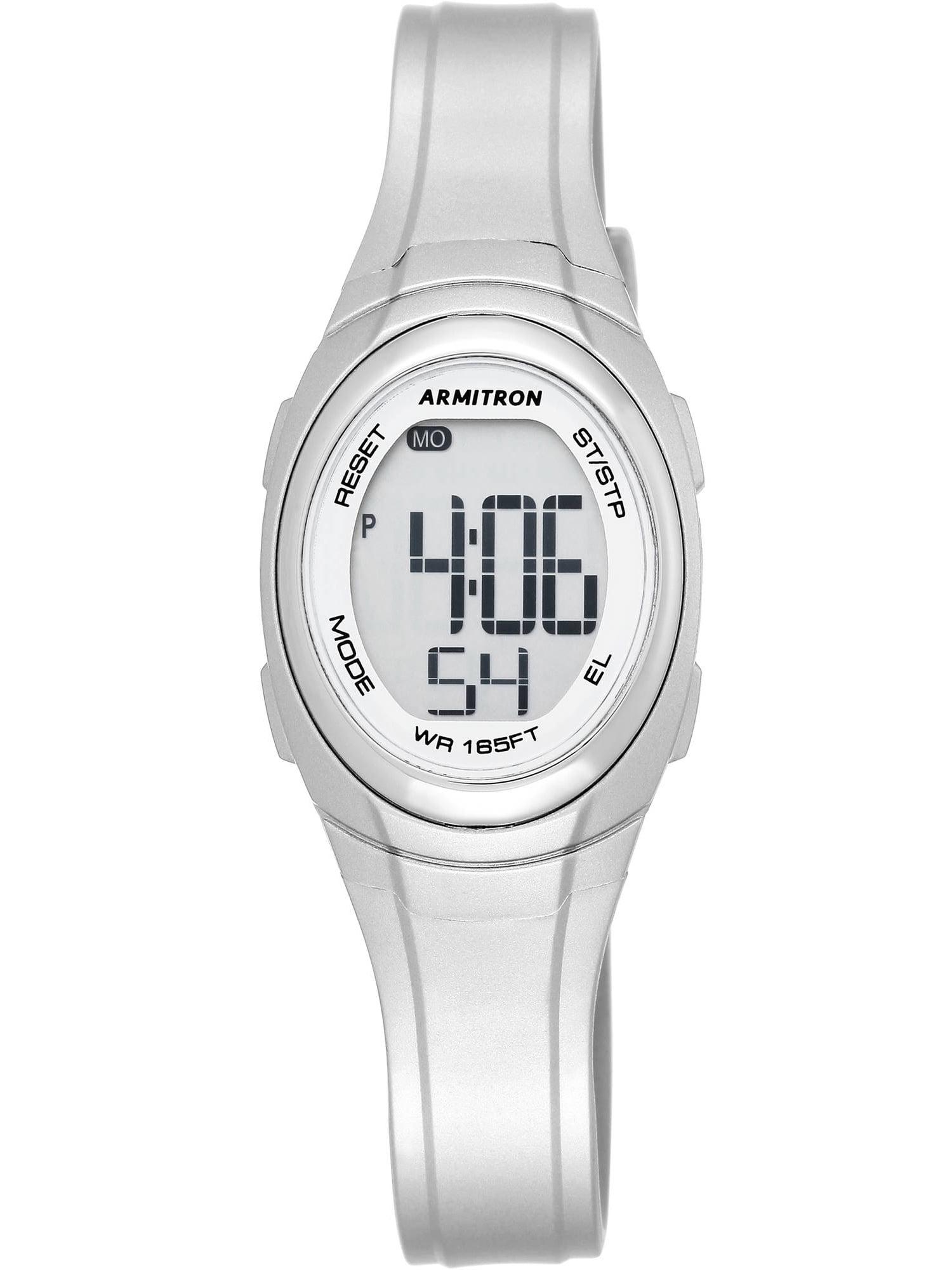 Sport Watch, Metallic Silver
