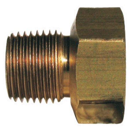 - JMF 4367744 Male Inverted Flare Adapter, Brass, 1/4