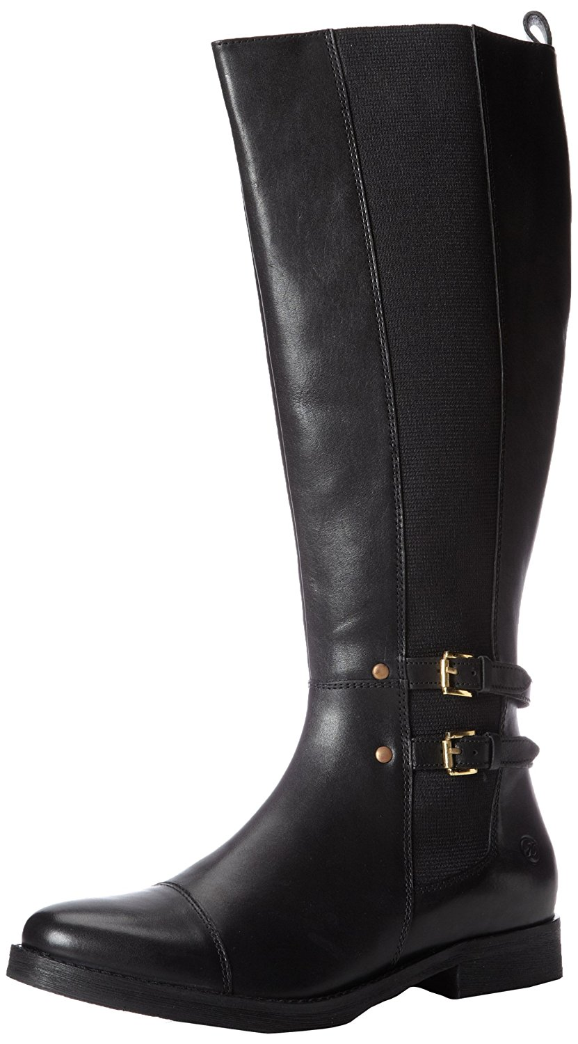 Bronx By Diba True Women's Loop Hole Tall Leather Boots Black (41.0 EU   11.0M US) by