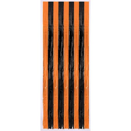 Black & Orange Halloween Door Curtain](Halloween Drake)