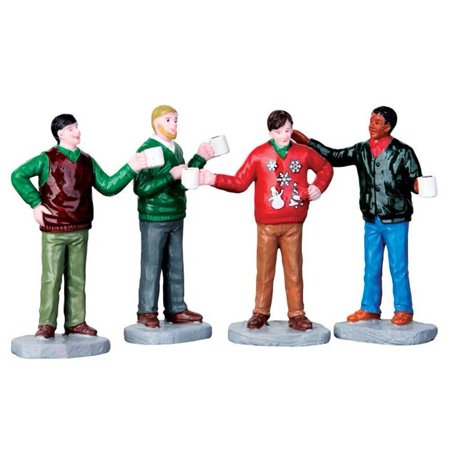 Ugly Christmas Sweater, Set of 4 #62450, New for 2016! By Lemax Village Collection Ship from US ()