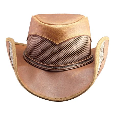 81c0761b37456 New American Hat Makers Durban Snakeskin Leather Cowboy Hat - Walmart.com