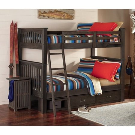 Twin Over Twin Storage Bunk Bed Espresso