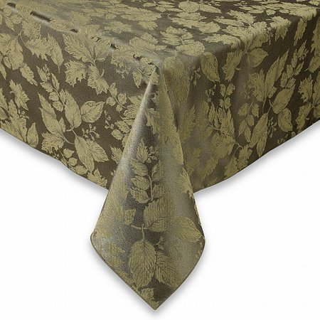 BB&B Autumn Harvest Green Damask Fabric Tablecloth Table Cloth 60x84 Ob ()