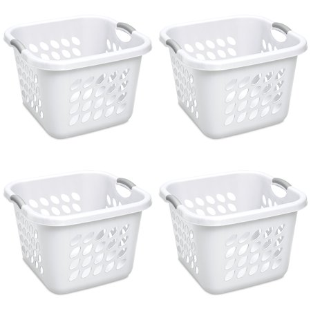 Sterilite, 1.5 Bushel/53 L Ultra-Square Laundry Basket, Case of 4 (Sterilite Laundry Basket)