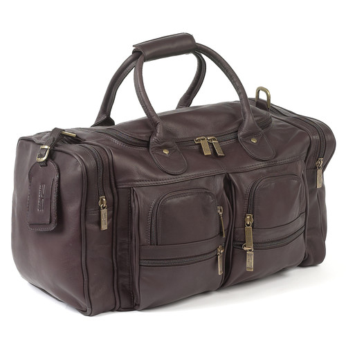 Claire Chase Executive Sports 17'' Leather Travel Duffel