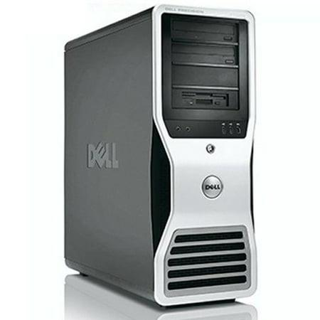 Dell Precision Workstation Desktop Computer Tower PC Xeon Quad 2.4GHz Processor 8GB RAM 500GB Hard Drive Windows 10 Pro Dual Video Ready! Refurbished Dell Precision Workstation T7400