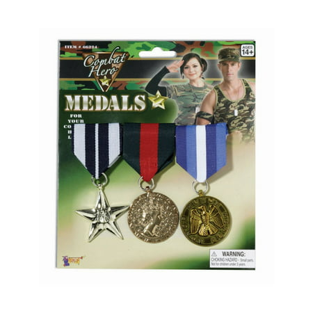 Halloween 3 Piece Military Medals