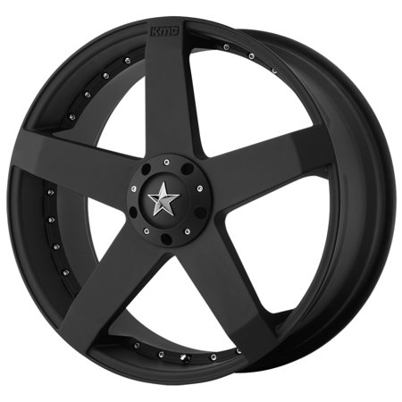 "KMC KM775 Rockstar Car 18x8 5x4.5""/5x120 +42mm Matte Black Wheel Rim 18"" Inch"
