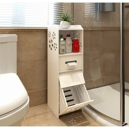 Ktaxon 3-tiers Waterproof Freestanding Slim Bath Cabinet Garbage Can Tissue Dispenser - image 2 de 4
