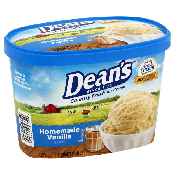 Dean's Country Fresh Homemade Vanilla Ice Cream, 1.5 qt