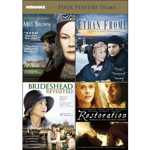 Miramax Classics: 4 Acclaimed Films, Vol. 2: Restoration / Her Majesty, Mrs. Brown / Ethan Frome / Brideshead Revisited (2008)