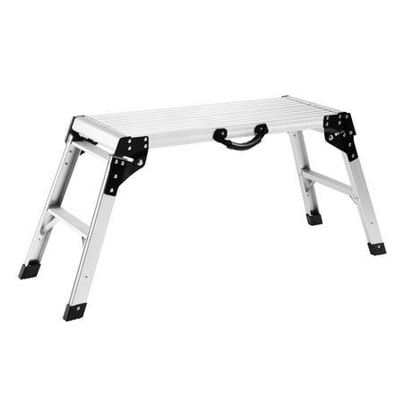 Finether 19 7 In High Aluminum Work Platform Drywall Step Up Folding Work Bench Stool Ladder For