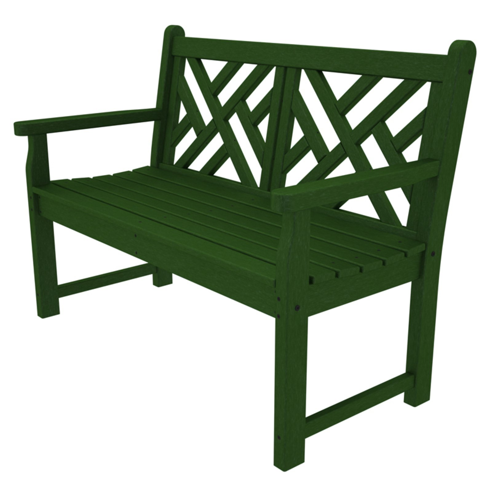 Astounding Polywood Chippendale Style Outdoor Bench Pabps2019 Chair Design Images Pabps2019Com