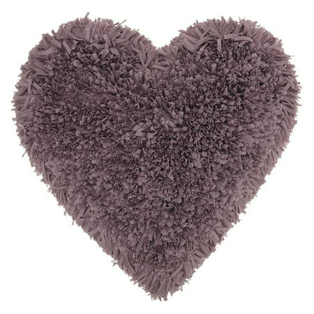 Nourison Frame Heart Shag Decorative Throw Pillow, 18
