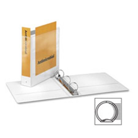 Round-Ring View Binder,11 in. x 8.5 in.,1.5 in. Capacity,White - image 1 de 1