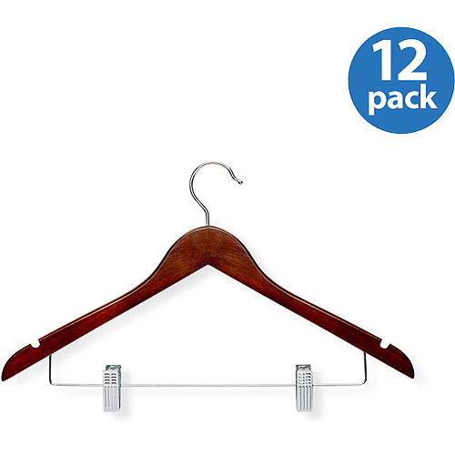 Honey Can Do Basic Suit Hanger with Clips, 12pk