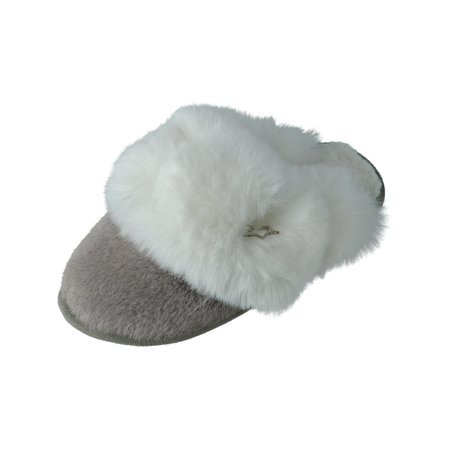 Pretty You London  Beth Clog Slippers with Faux Fur Cuff (Women's)