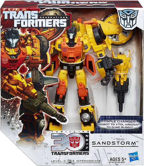 Transformers Generations Thrilling 30 Voyager Class Sandstorm Figure by Hasbro, Inc