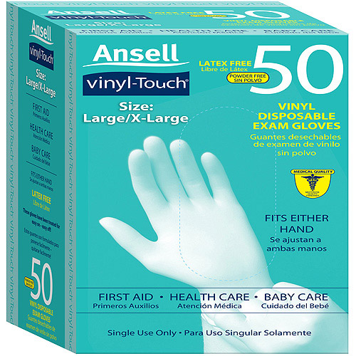 Ansell Vinyl Touch Gloves, L/XL, 50ct